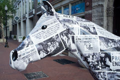 Лошадь Prohibtion в городском Луисвилле Стоковые Изображения RF