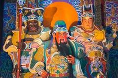 ЛОЯН, КИТАЙ - 14-ОЕ НОЯБРЯ 2014: Висок Guanlin известное историческое стоковое изображение rf
