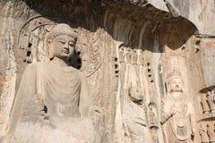 ЛОЯН, КИТАЙ - 13-ОЕ НОЯБРЯ 2014: Гроты Longmen Мир ЮНЕСКО она Стоковая Фотография RF
