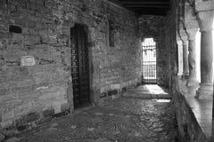 Лоджия церков St Peter в черно-белом Стоковые Изображения
