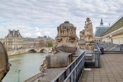 Лувр, взгляд от вершины ` Orsay Musee d Жалюзи было раз дворцом и теперь самые известные стоковое фото
