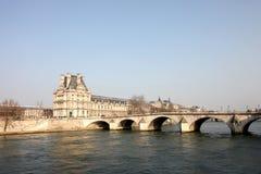 Лувр и Pont du Carrousell Стоковое фото RF