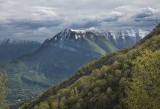 Лугано Prealps около озера Como, Италии Стоковое Изображение