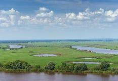 Луга вдоль реки Oka Центральное Россия Стоковое Изображение RF