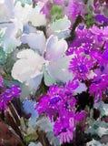 Луга полевых цветков цветочного узора предпосылки акварели мытье абстрактного влажное запачкало wallpape руки украшения красивое бесплатная иллюстрация