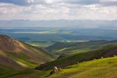 Луг плато в горах стоковые изображения rf