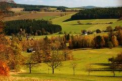 Луг чехословакского ландшафта Стоковое Изображение RF
