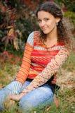 лужайка девушки Стоковая Фотография RF