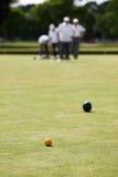 лужайка игры шаров стоковое изображение rf