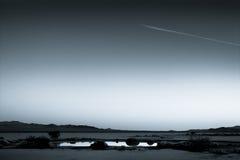 Лужица в сухом дне озера Стоковое фото RF