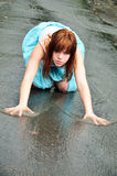 лужица девушки Стоковое Фото