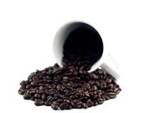 лужица кофе 2 фасолей Стоковое Фото