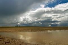 Лужица на поле Стоковая Фотография RF