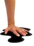лужица черной руки Стоковая Фотография RF