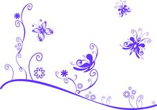 лужок бабочек Стоковое Изображение