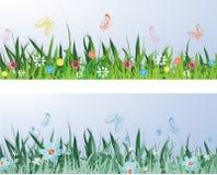 Лужок весны иллюстрация вектора