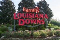 Луизиана опускает знак входа стоковые фотографии rf