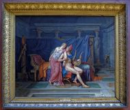 Луис Дэвид Влюбленности Парижа и Хелена 1788 жалюзи Стоковое Фото