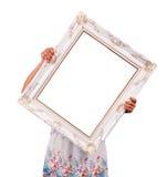 Луис держит картинную рамку Стоковые Фото