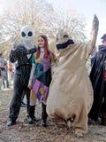 ЛУККА, ИТАЛИЯ - 11-ое ноября: маскирует персонажи из мультфильма на Лукке Стоковое Изображение RF
