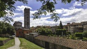 Лукка, Тоскана, Италия. Улицы Стоковая Фотография RF