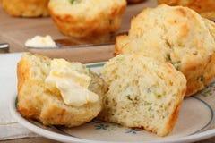 лук булочки сыра Стоковые Изображения