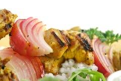 лук цыпленка skewers tandoori Стоковые Фотографии RF