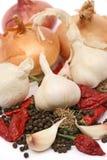 лук чеснока органический Стоковая Фотография RF