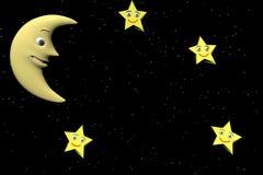 лунатируйте звезды Стоковые Фото