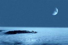 лунатируйте ночное небо стоковая фотография rf