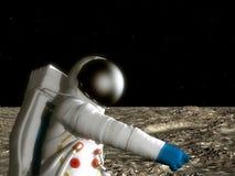 луна астронавта иллюстрация вектора