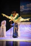 Луна балета скачки-Hui над Helan Стоковые Изображения