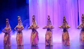 Луна балета тайны-Hui девушки Hui над Helan Стоковые Изображения