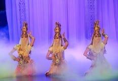 Луна балета танца-Hui бака сокровища над Helan Стоковая Фотография RF
