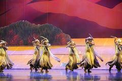 Луна балета танца-Hui Scimitar над Helan Стоковая Фотография RF
