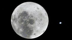 Луна в космическом пространстве, поверхности Высококачественный, разрешение, 4k Это отображает элементы обеспеченные NASA иллюстрация вектора