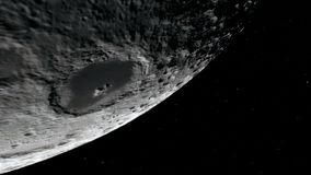 Луна в космическом пространстве, поверхности Элементы этого изображения поставленные NASA стоковое фото