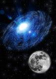 Луна в космосе Стоковая Фотография RF
