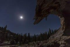 Луна горы стоковые фотографии rf