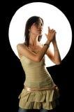 луна девушки вниз Стоковое Фото