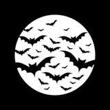 Луна летучих мышей полностью иллюстрация штока