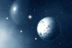 Луна и звезды на ноче Стоковые Фото