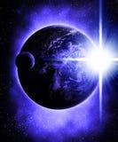 Луна и земля стоковые фотографии rf