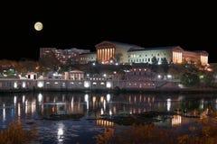 Луна над музеем Стоковое Изображение RF