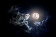 Луна на пасмурный день Стоковая Фотография