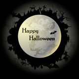 Луна ночи helloween Стоковые Фото