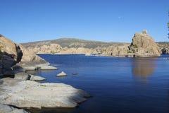 луна озера над поднимая watson Стоковое фото RF