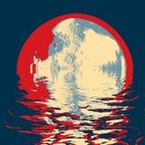 Луна полутонового изображения Стоковое Фото