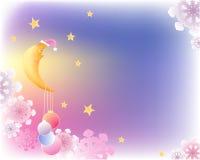 луна рождества предпосылки Бесплатная Иллюстрация