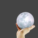 луна руки Стоковая Фотография